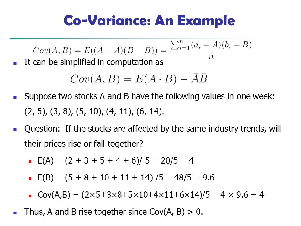 Co-Variance: An Example