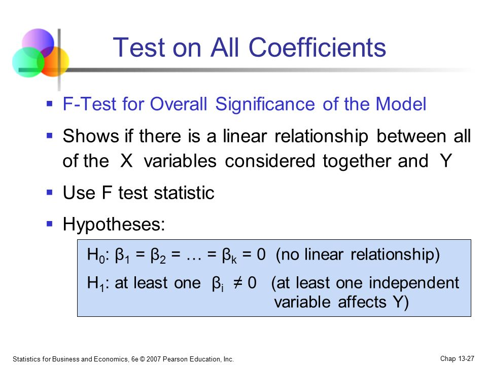 Test on All Coefficients
