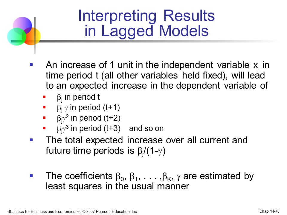 Interpreting Results in Lagged Models