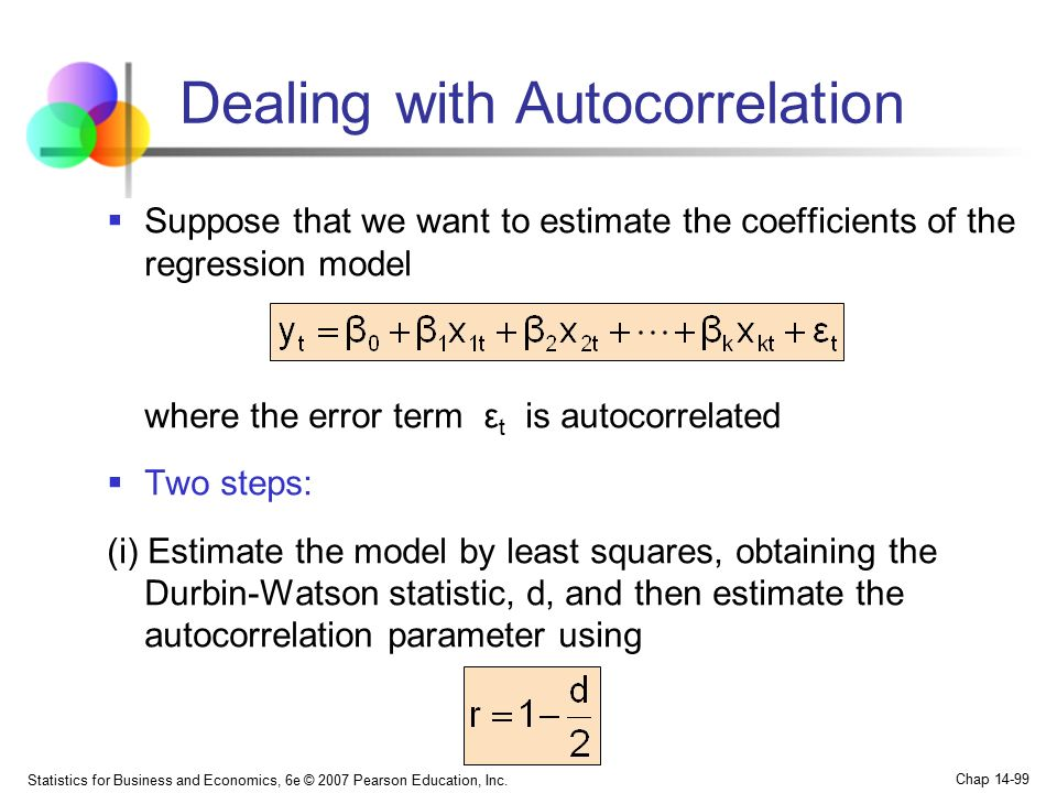 Dealing with Autocorrelation