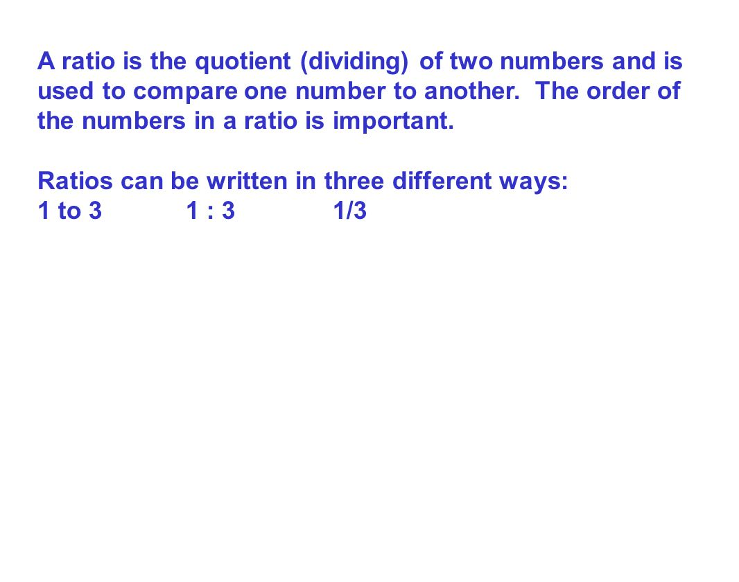 two ways to write a ratio