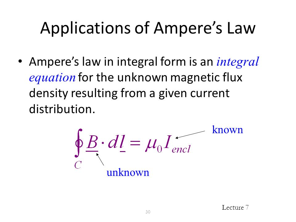 EEE 403 Lecture 7: Magnetostatics: Ampere's Law Of Force; Magnetic ...