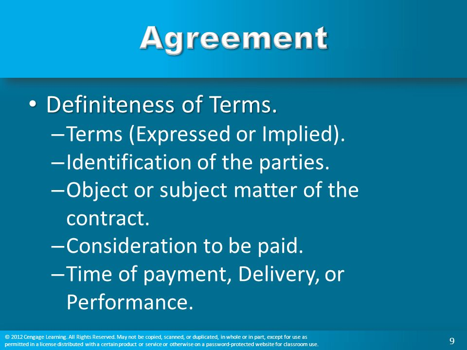 Chapter 10 agreement in traditional and e contracts ppt video 9 agreement definiteness platinumwayz