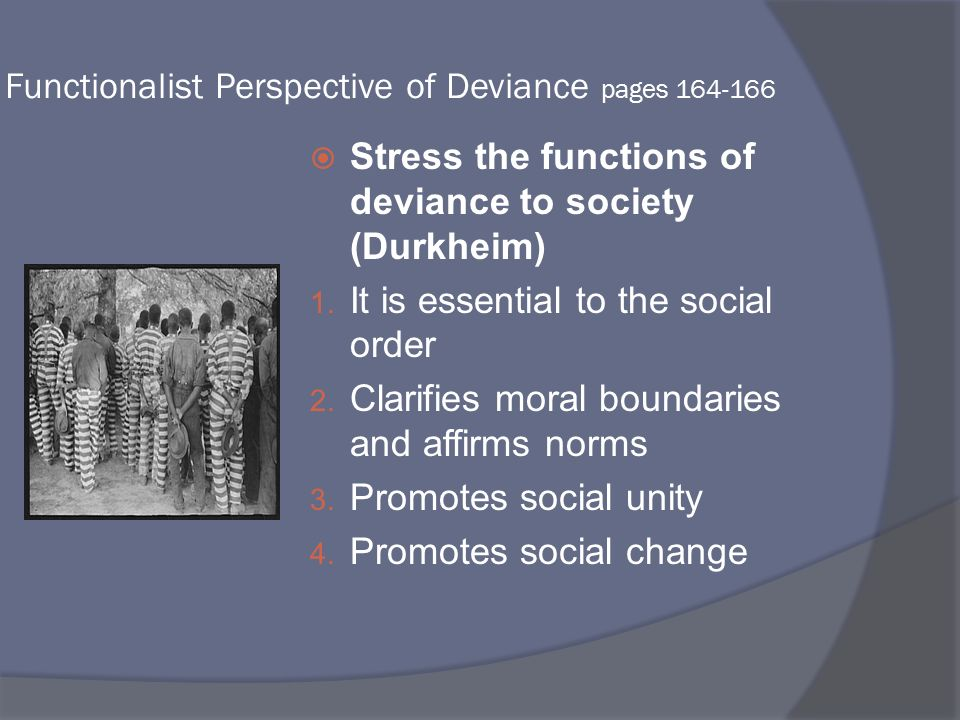 functionalist view of social order The functionalist perspective (functionalism) is a major theoretical perspective in sociology, focusing on the macro-level of social structure.
