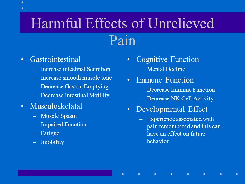 effect of neutralizing activity on discomfort This work aims to verify the effects of animal-assisted activity (aaa) on the  expression and quality of self-reported pain in hospitalized children and  adolescents,.