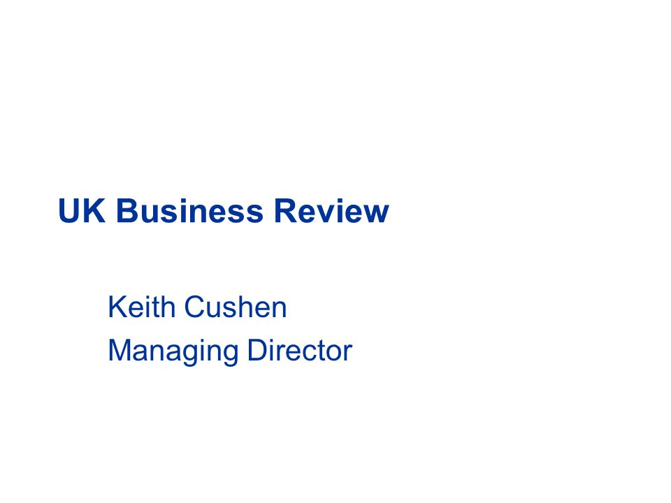 Keith Cushen Managing Director