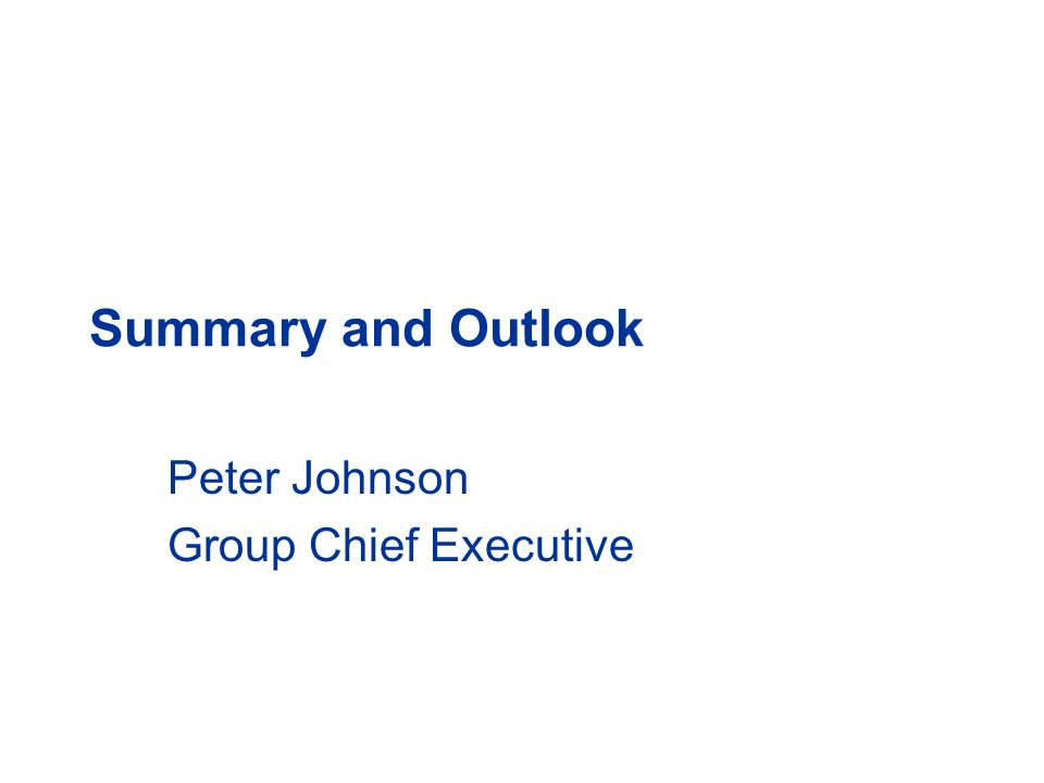Peter Johnson Group Chief Executive