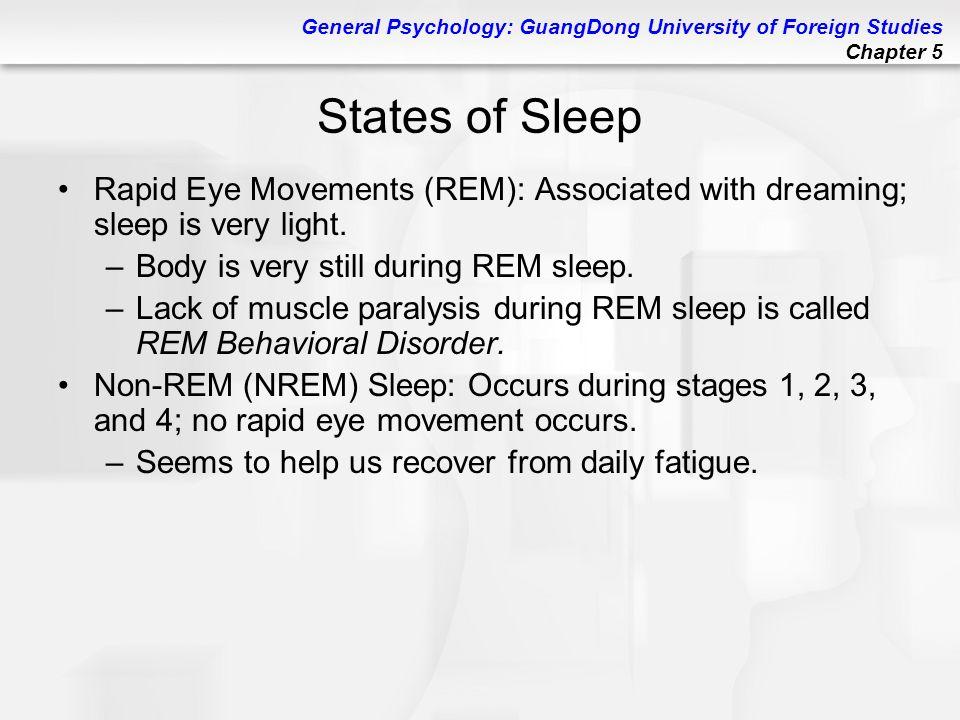 sleep disorders rapid eye movement essay