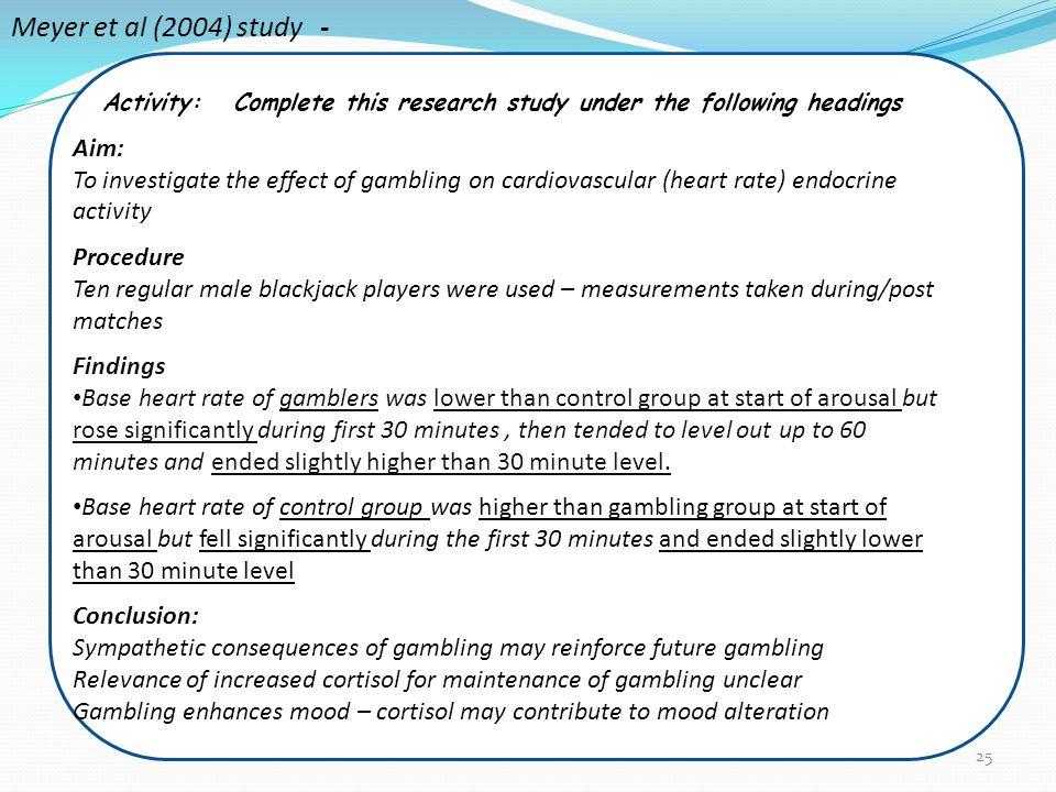 Gambling group discussion