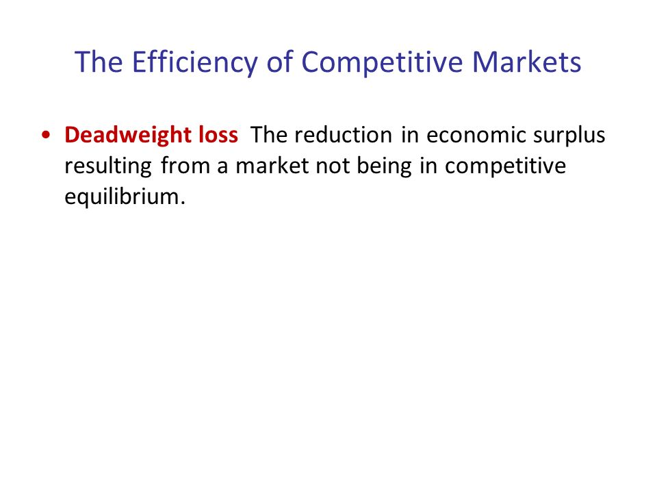 competitive markets and economic efficiency Economic efficiency economics is a science of efficiency in the use of scarce resources efficiency requires full employment of available resources and full production.