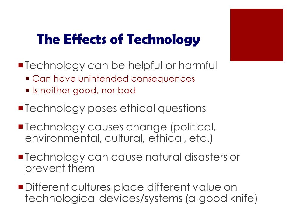 10 Negative Effects of Technology