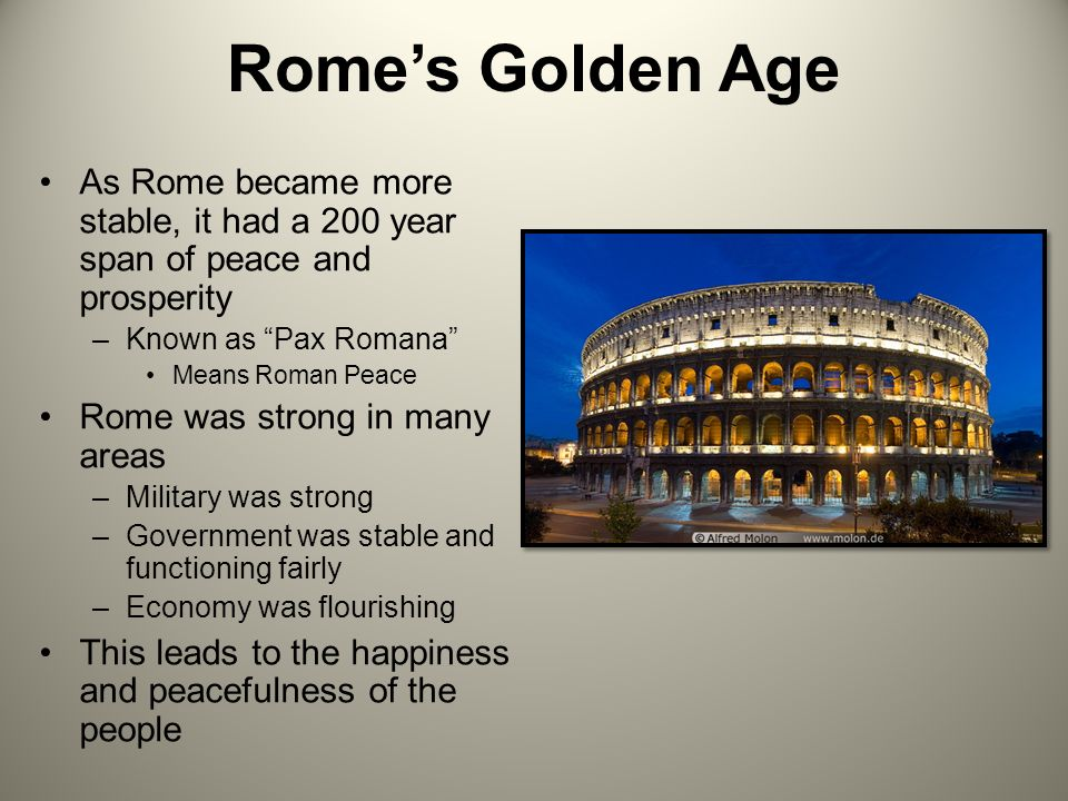 golden age of rome Why are golden retrievers more likely to die of cancer than any other breed as he speaks about raising his three children in a digital age singer.