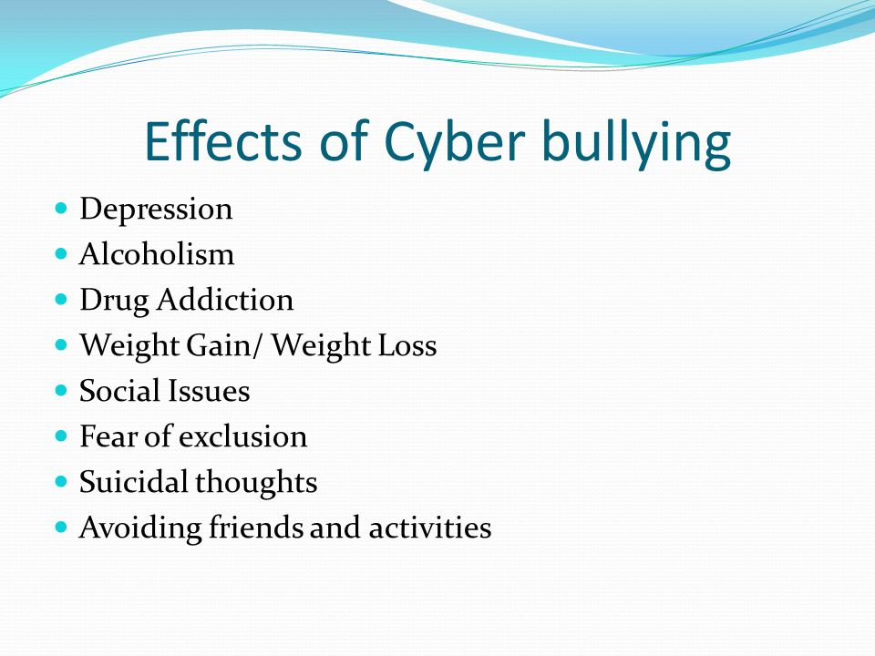 the tragic effects of cyberbullying Cyberbullying is one of the biggest challenges that school social workers currently face this in-depth resource explains the psychological, emotional, and social effects of cyberbullying, and how school social workers can address cyberbullying at their school(s) and in their community.