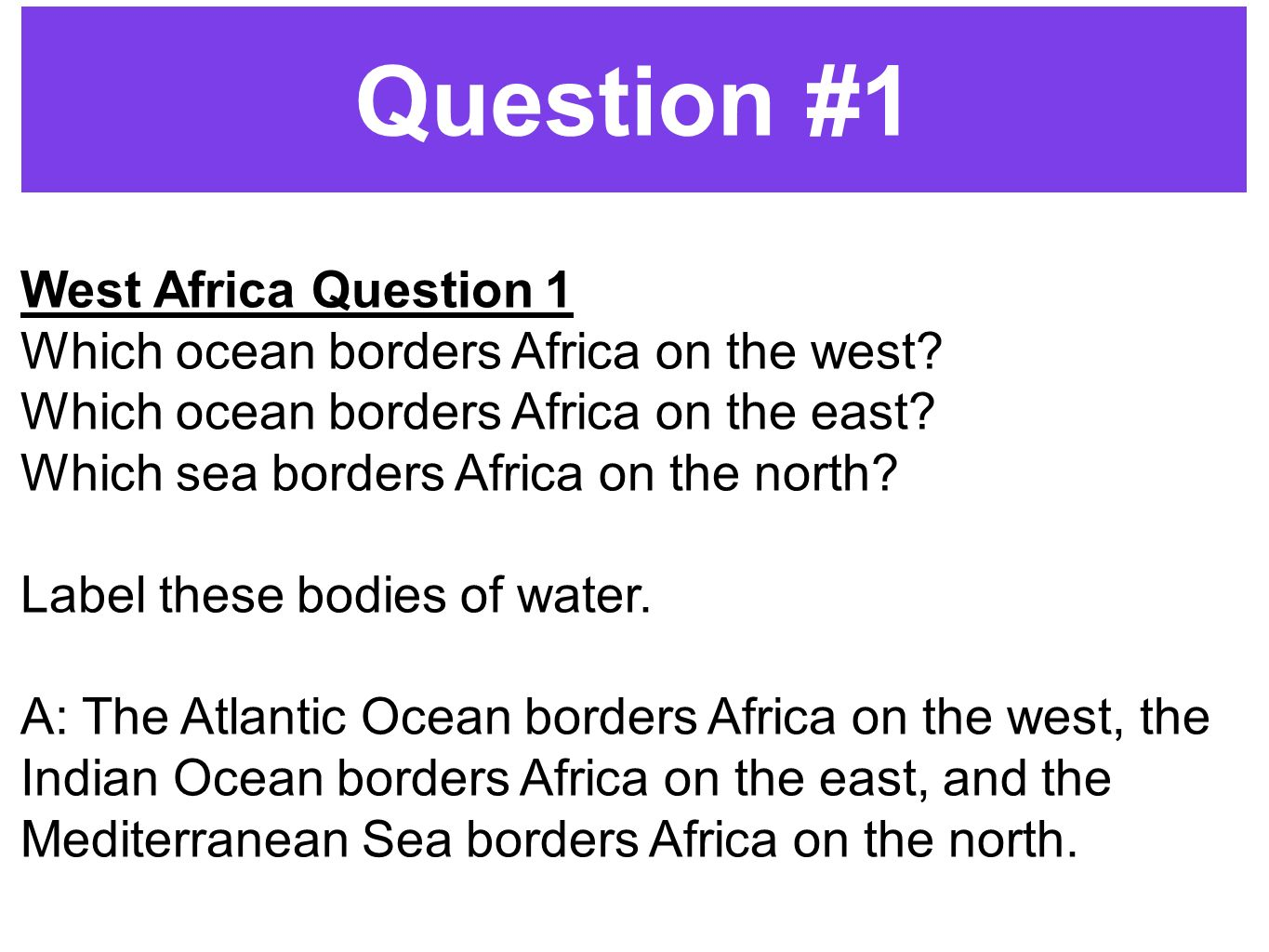 Geography challenge 3 10 minutes ppt video online download question 1 west africa question 1 biocorpaavc