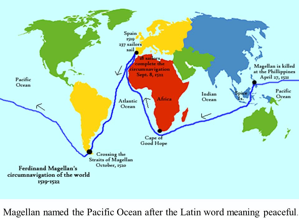 a description of the first explorer to circumnavigate the globe and cross the pacific ocean