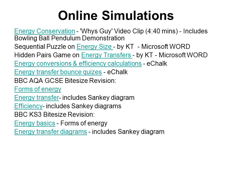 Edexcel igcse certificate in physics 4 1 energy transfers ppt 31 online simulations ccuart Images