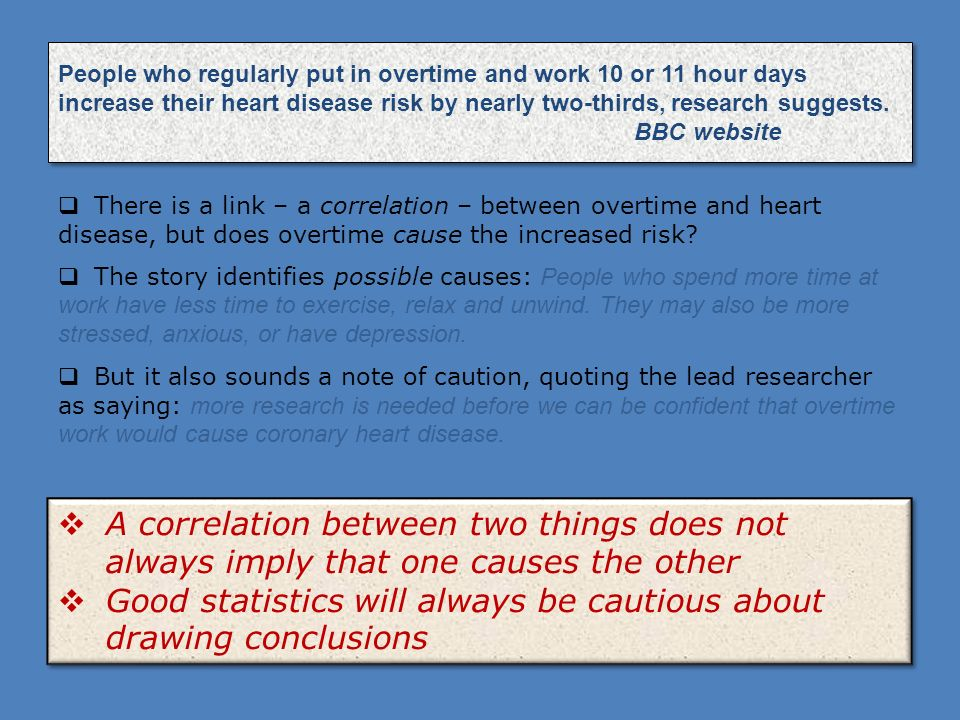 Good statistics will always be cautious about drawing conclusions