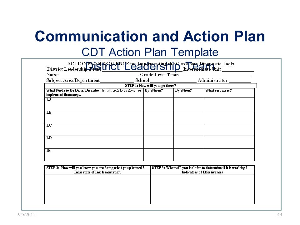 Leadership Action Plan Template Ri Social Media Action Plan