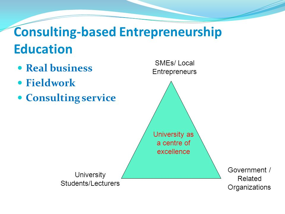 Consulting-based Entrepreneurship Education