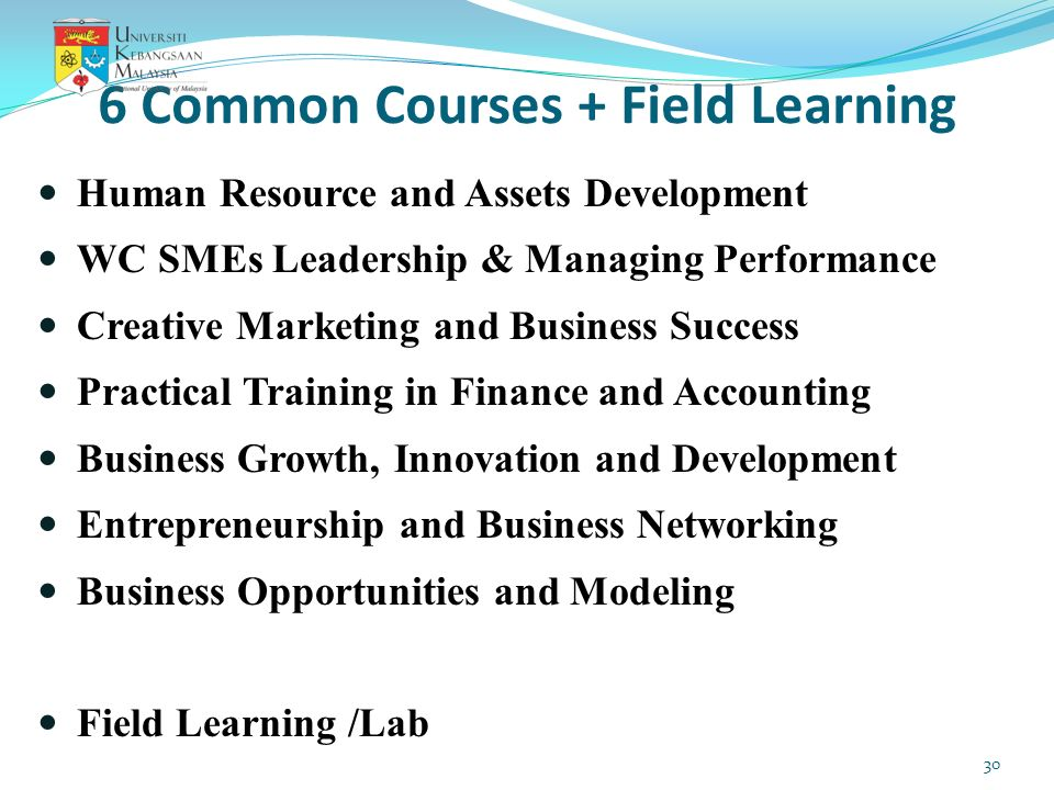6 Common Courses + Field Learning