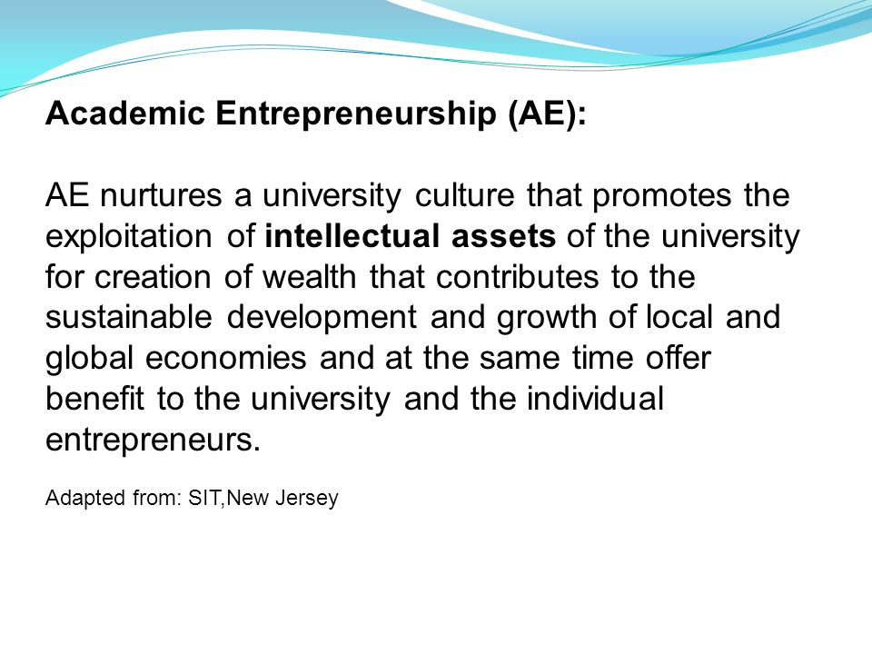 Academic Entrepreneurship (AE):