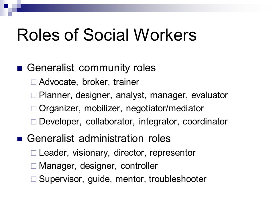 role of social worker in community Community worker/community development worker works with communities to bring about social change and improve quality of life  social worker housing manager.