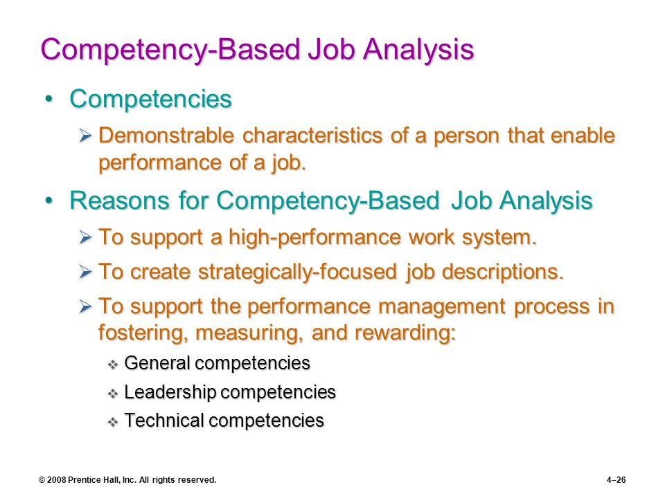 competencies job analysis Aaohn j 2001 jul49(7):336-46 agricultural health nurses job analysis of  functions and competencies lundvall am(1), olson dk author information.