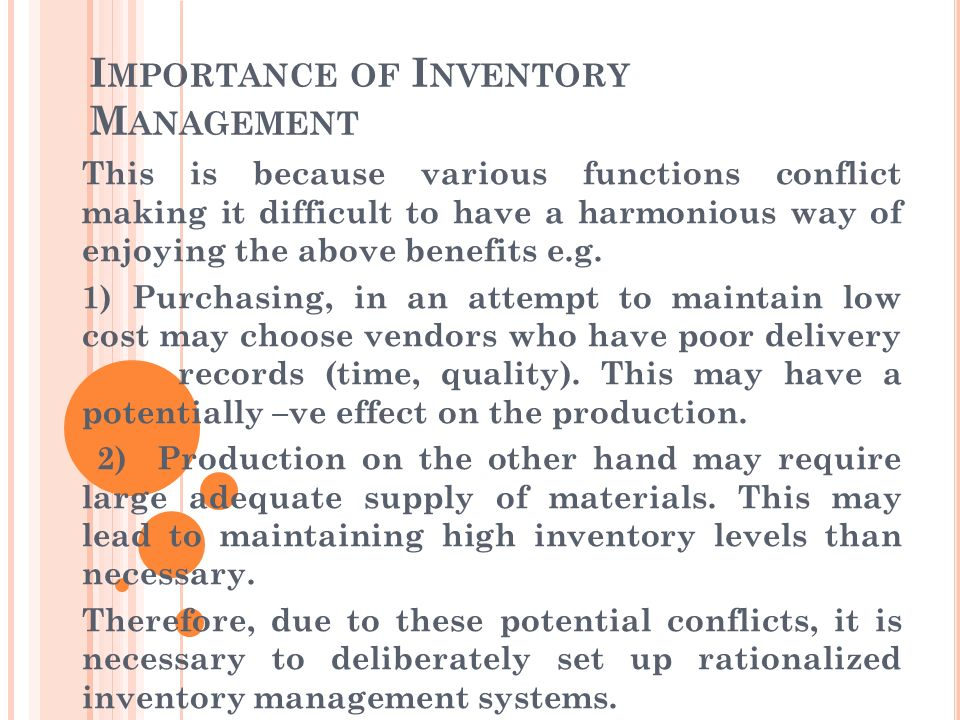 Importance of Inventory Management Systems