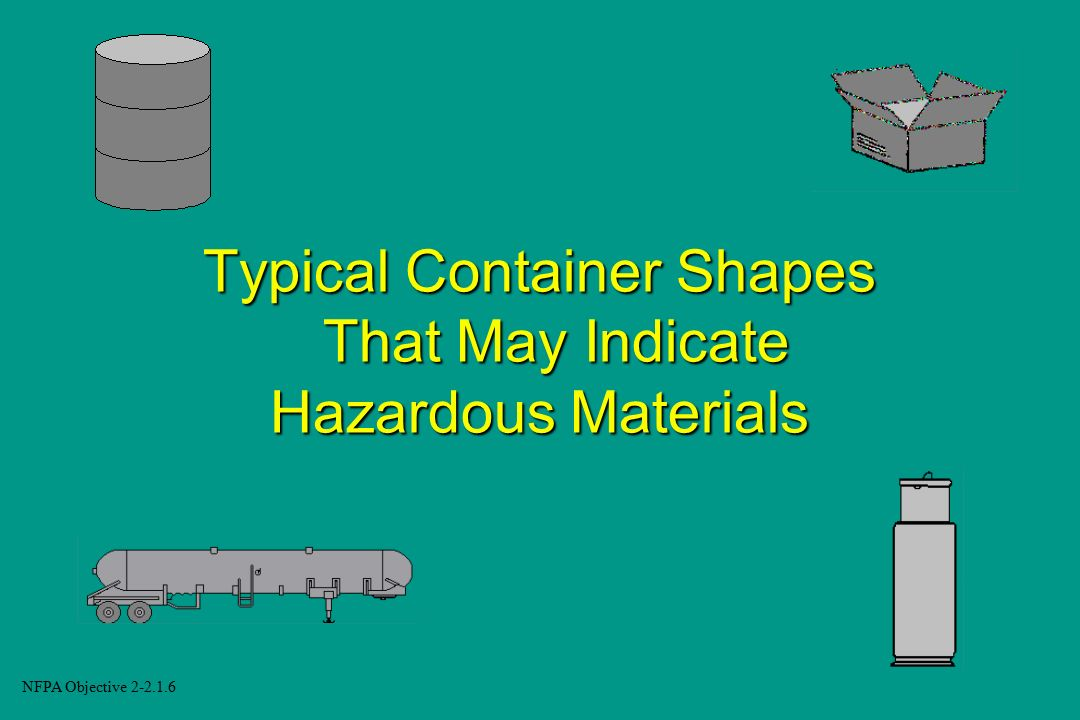 Typical Container Shapes That May Indicate Hazardous Materials