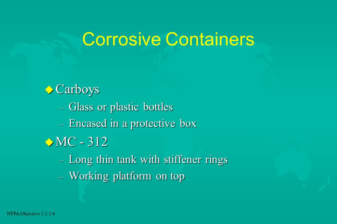 Corrosive Containers Carboys MC Glass or plastic bottles