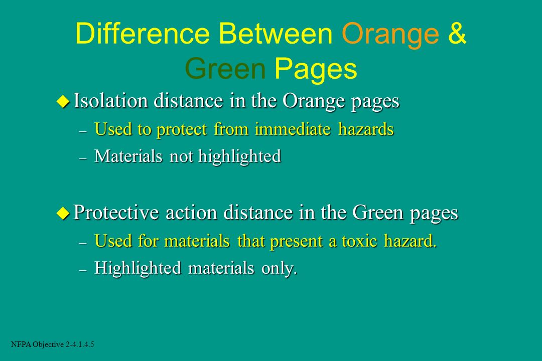 Difference Between Orange & Green Pages