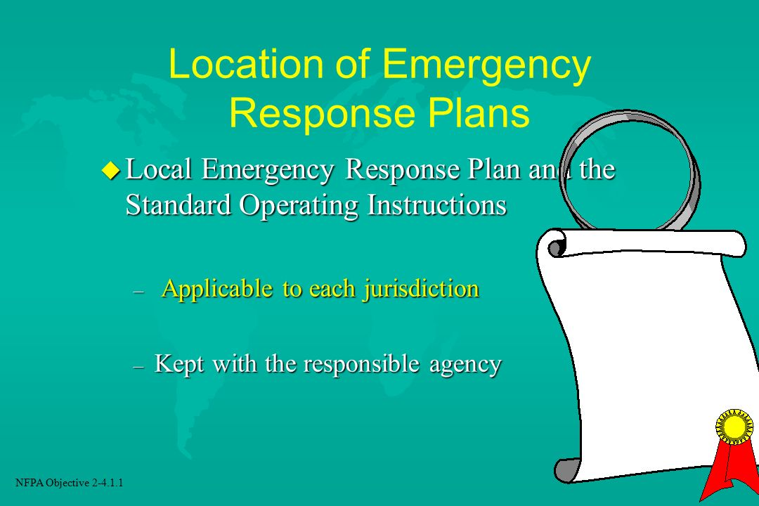 Location of Emergency Response Plans
