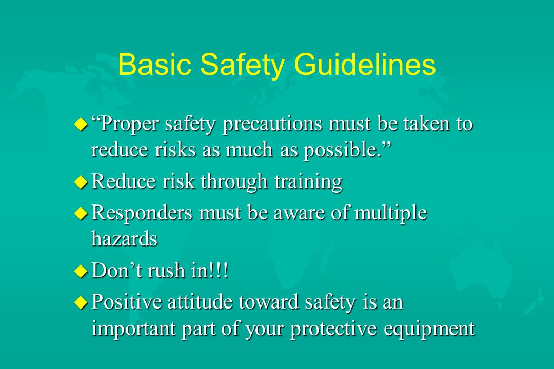 Basic Safety Guidelines