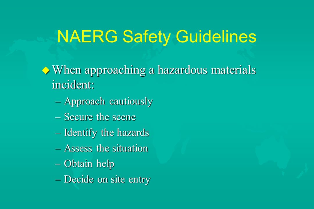 NAERG Safety Guidelines