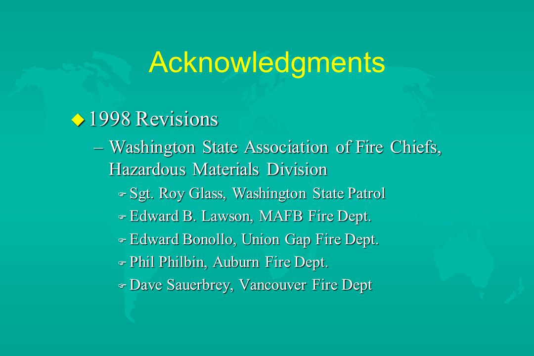 Acknowledgments 1998 Revisions