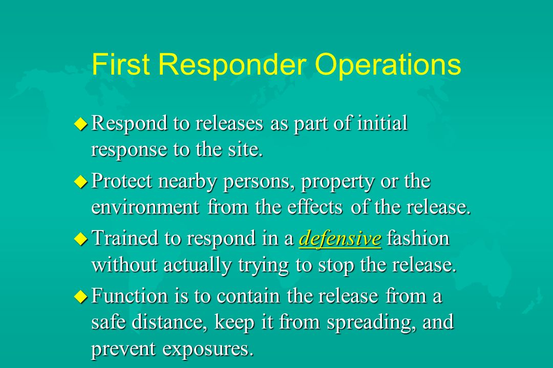 First Responder Operations