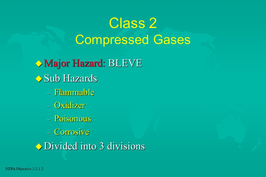 Class 2 Compressed Gases