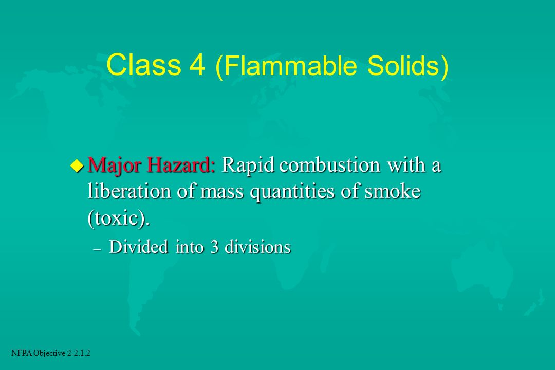 Class 4 (Flammable Solids)