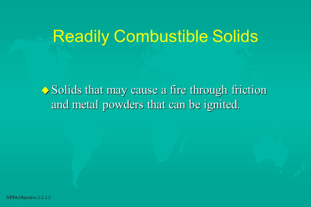 Readily Combustible Solids