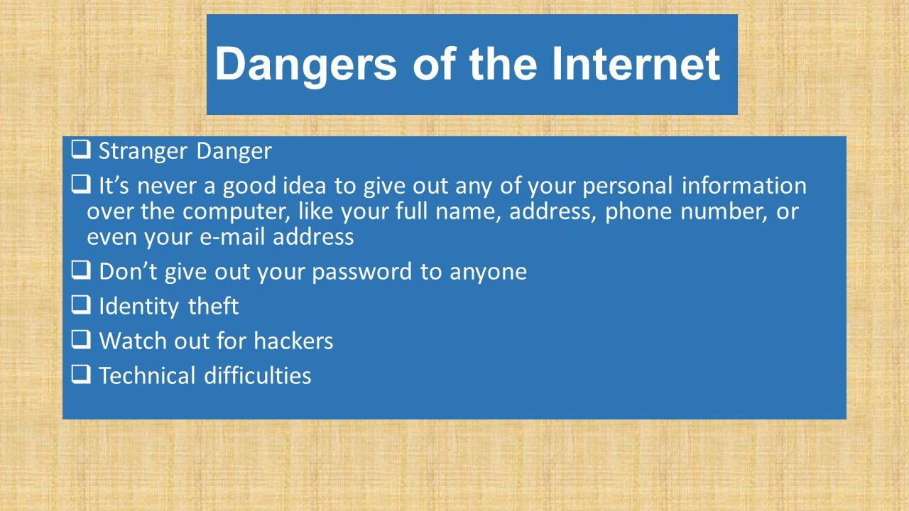 Giving your number online dating danger