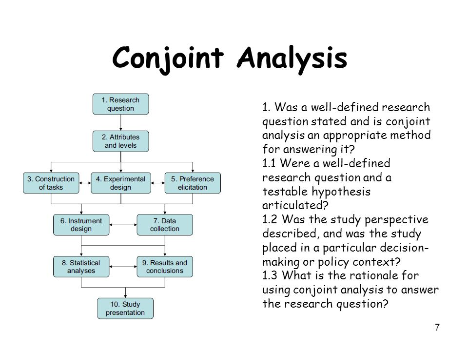 A Case Study of Conjoint Analysis: New Approaches to ...