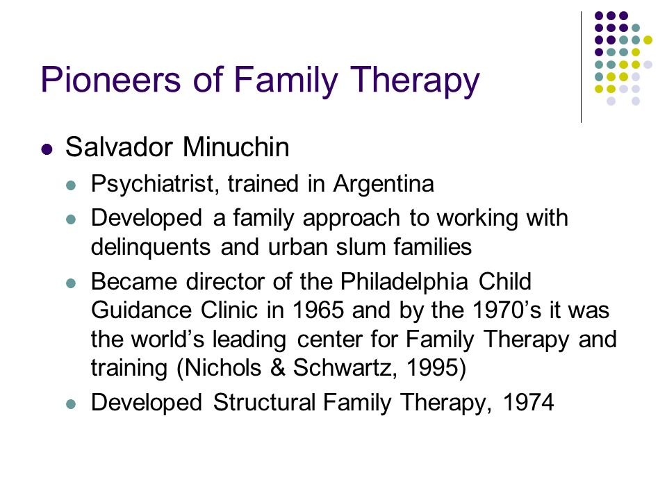 minuchin s 1974 families and family therapy Essential book in the study of estructural family therapy minuchin's words come easy and clear, providing a useful theoretical framework for therapists to work with.