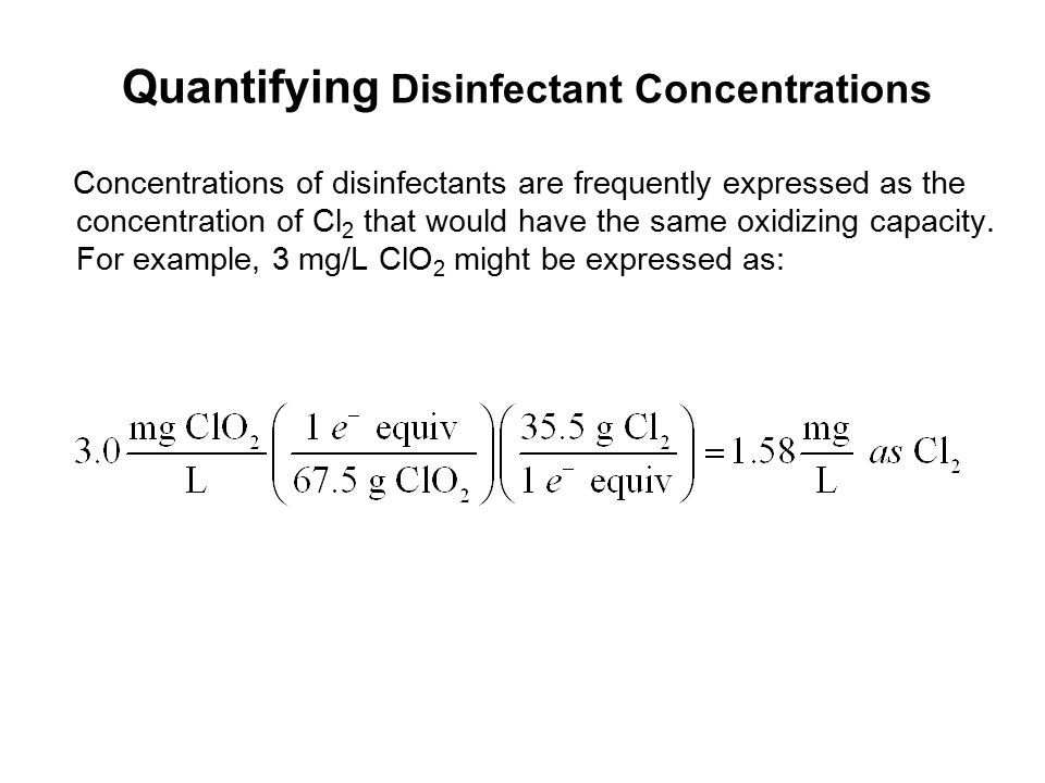 Quantifying Disinfectant Concentrations