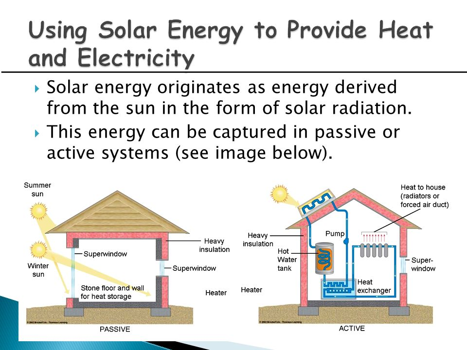 Using Solar Energy to Provide Heat and Electricity
