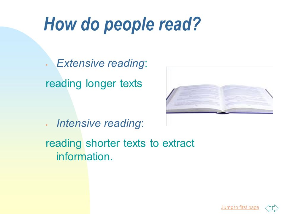 how to teach extensive reading