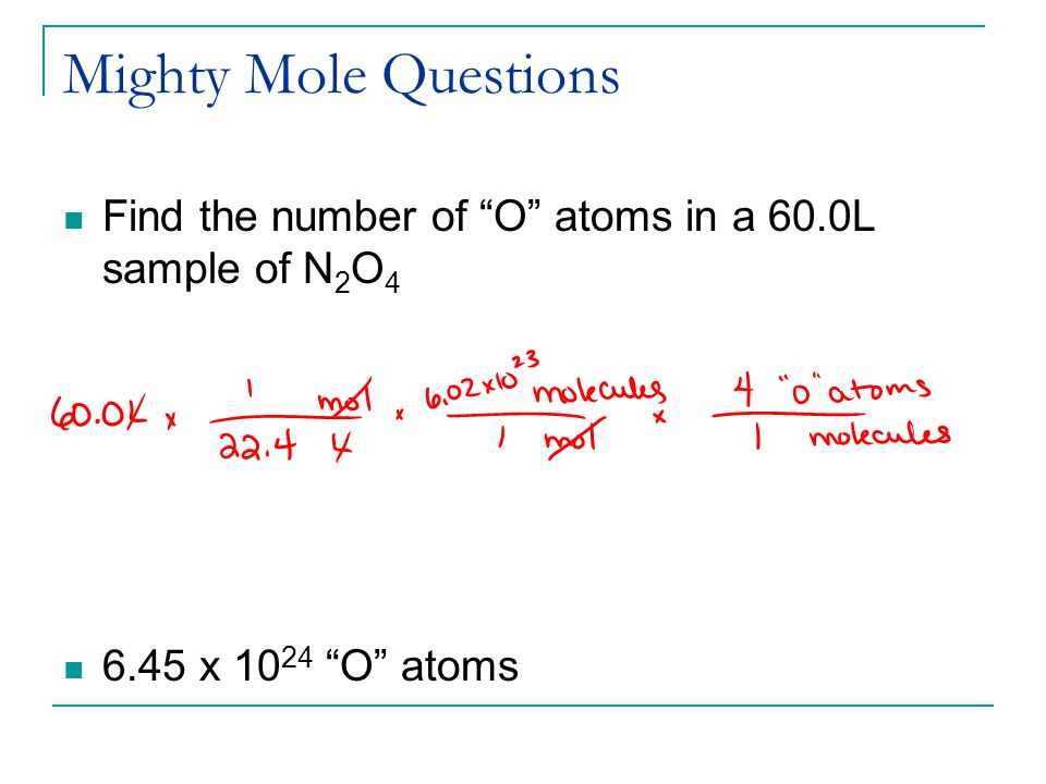 how to find total atoms in a sample