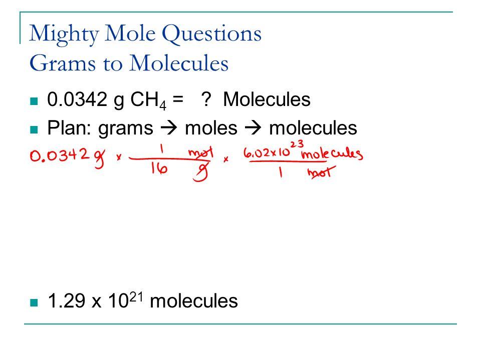 Unit V The Mole Concept ppt video online download – Moles Molecules and Grams Worksheet