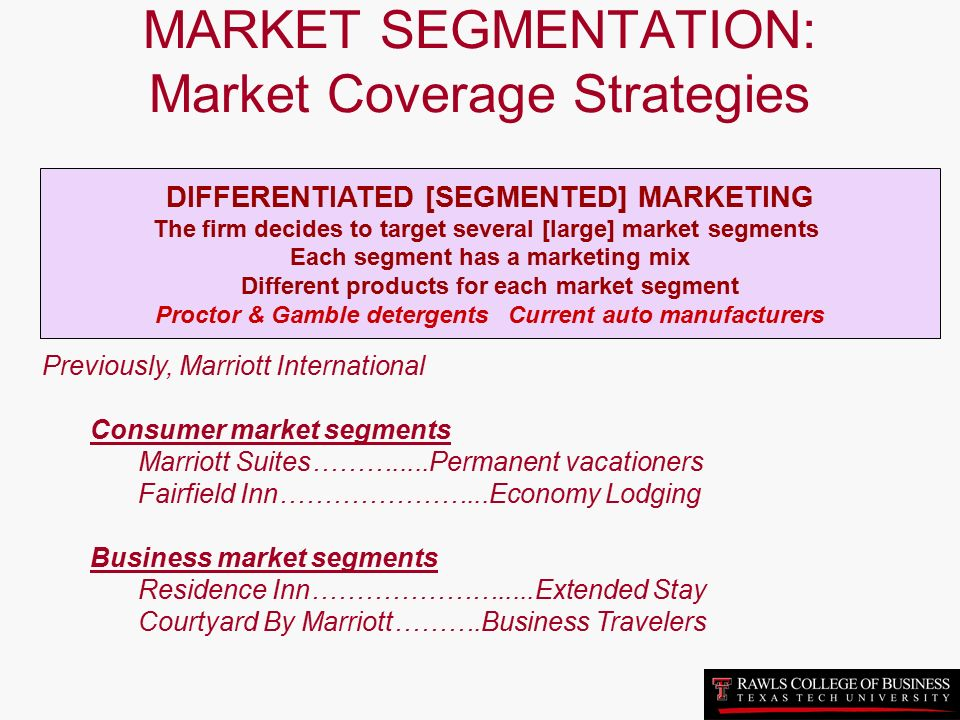 market segmentation of marriott hotels Marriott international hotels and resorts as a brand is evaluated in terms of its swot analysis, competition, segment, target group, positioning its tagline/slogan and unique selling proposition are also covered.