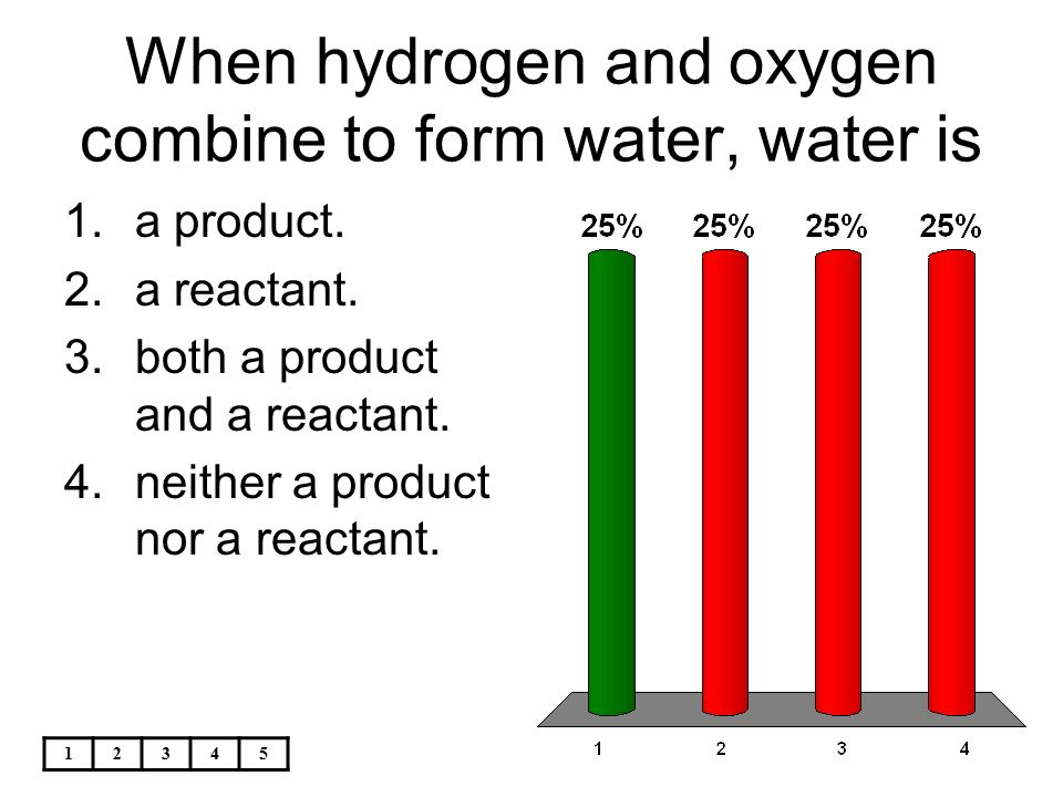 how to make water from oxygen and hydrogen