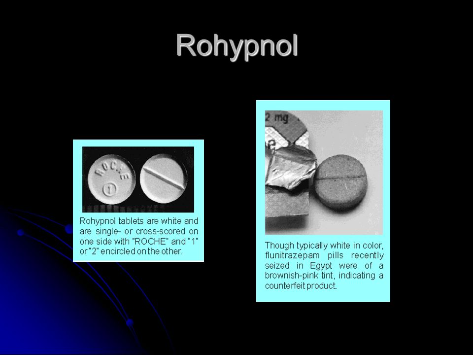 Rohypnol short term effects